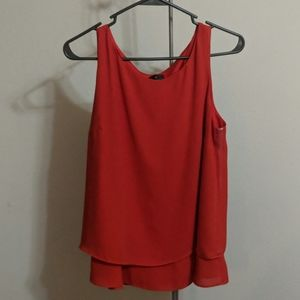 Double layer sleeveless blouse